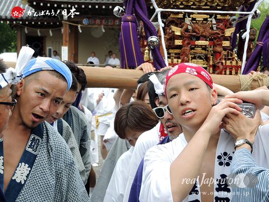亀戸天神社例大祭:七番〈立川四丁目〉2014.08.24  Ⓒreal Japan'on!:ktj14-015