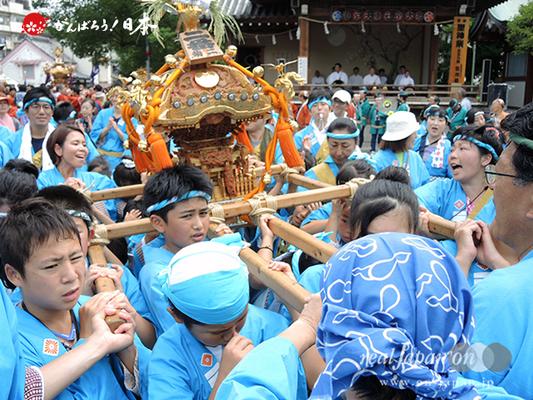 亀戸天神社例大祭:二番〈菊川二丁目〉2014.08.24  Ⓒreal Japan'on!:ktj14-005