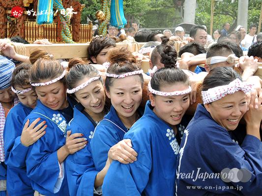 亀戸天神社例大祭:五番〈立川二丁目〉2014.08.24  Ⓒreal Japan'on!:ktj14-008