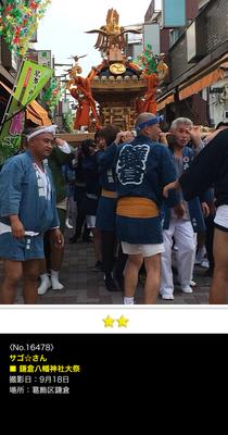 サゴ☆さん:鎌倉八幡神社大祭, 2016年9月18日, 葛飾区鎌倉