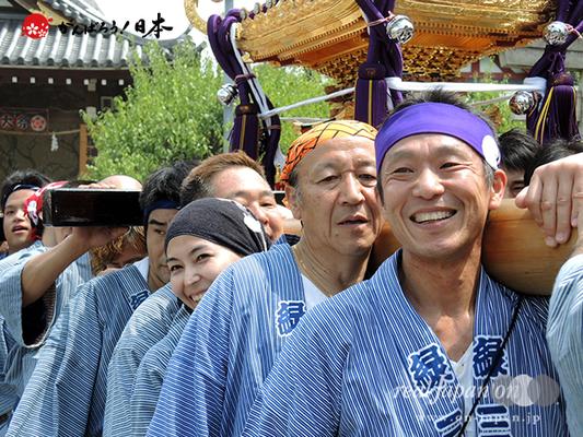 亀戸天神社例大祭:十一番〈緑三丁目〉2014.08.24  Ⓒreal Japan'on!:ktj14-021