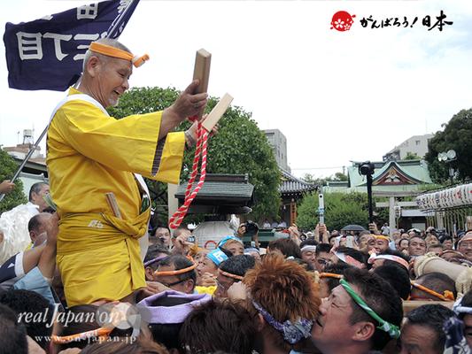亀戸天神社例大祭:六番〈菊川三丁目〉2014.08.24  Ⓒreal Japan'on!:ktj14-014