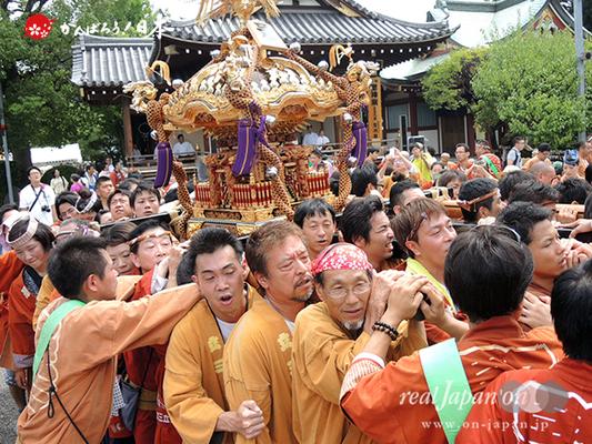 亀戸天神社例大祭:三番〈立川三丁目〉2014.08.24  Ⓒreal Japan'on!:ktj14-006