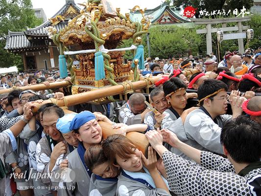 亀戸天神社例大祭:壱番〈立川一丁目〉2014.08.24  Ⓒreal Japan'on!:ktj14-003