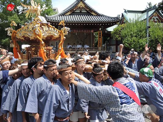 亀戸天神社例大祭:十五番〈両国相一会〉2014.08.24  Ⓒreal Japan'on!:ktj14-028