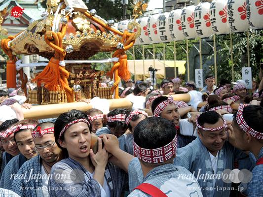 亀戸天神社例大祭:十七番〈両四天神講〉2014.08.24  Ⓒreal Japan'on!:ktj14-033