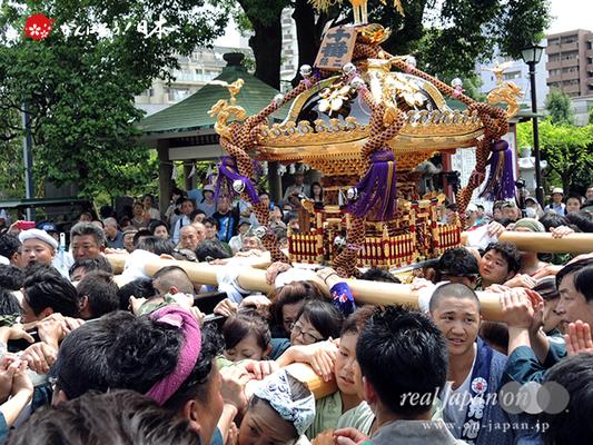 亀戸天神社例大祭:十番〈緑二丁目〉2014.08.24  Ⓒreal Japan'on!:ktj14-019