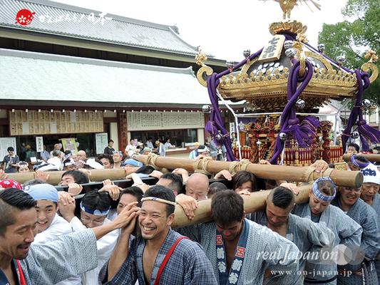 亀戸天神社例大祭:七番〈立川四丁目〉2014.08.24  Ⓒreal Japan'on!:ktj14-016