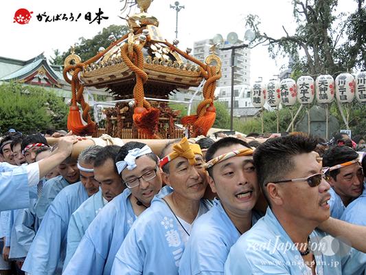 亀戸天神社例大祭:六番〈菊川三丁目〉2014.08.24  Ⓒreal Japan'on!:ktj14-012