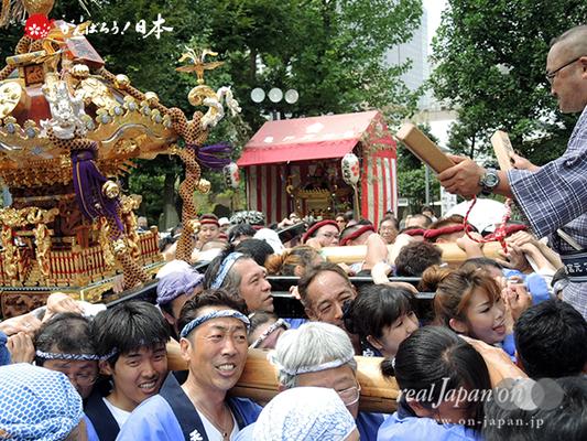 亀戸天神社例大祭:魁・番外壱番〈宮元〉2014.08.24 Ⓒreal Japan'on!:ktj14-001