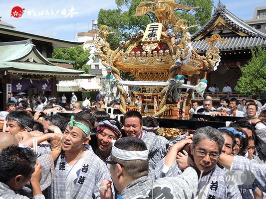 亀戸天神社例大祭:二十番〈錦四天神講〉2014.08.24  Ⓒreal Japan'on!:ktj14-040