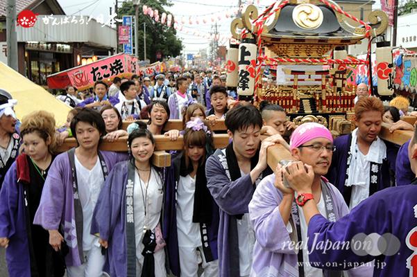 与野夏祭り:本町通り渡御〈上峰〉@2014.07.19
