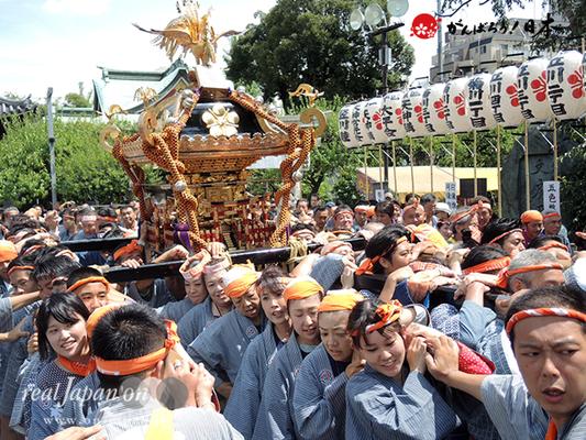 亀戸天神社例大祭:十六番〈両国小泉会〉2014.08.24  Ⓒreal Japan'on!:ktj14-032
