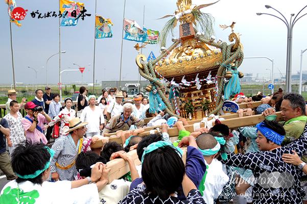 〈2014年 羽田まつり・各町神輿連合渡御〉前河原 町会