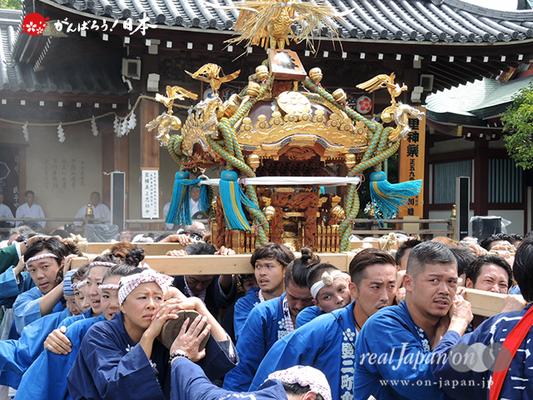 亀戸天神社例大祭:五番〈立川二丁目〉2014.08.24  Ⓒreal Japan'on!:ktj14-011