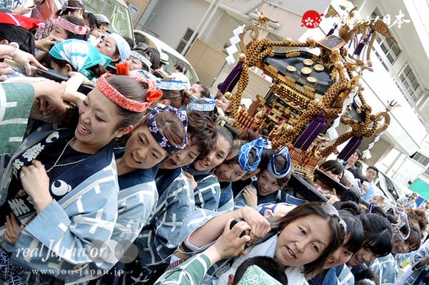 町内神輿渡御〈東十番 猿若〉@2014.05.18
