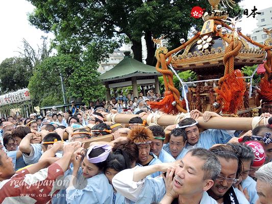 亀戸天神社例大祭:六番〈菊川三丁目〉2014.08.24  Ⓒreal Japan'on!:ktj14-013
