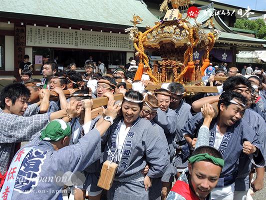 亀戸天神社例大祭:十五番〈両国相一会〉2014.08.24  Ⓒreal Japan'on!:ktj14-029