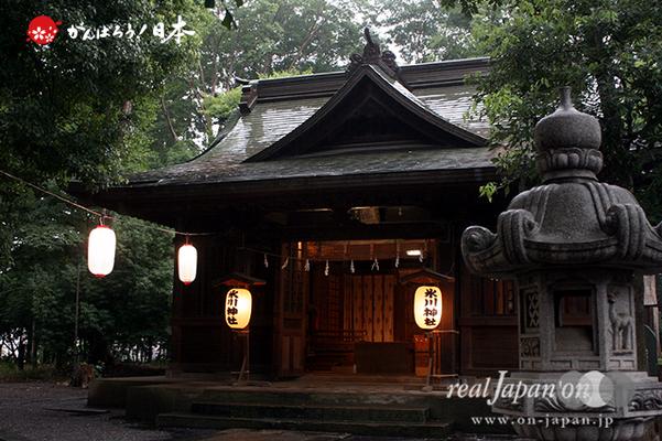 与野夏祭り:上町氷川神社社殿 @2014.07.19