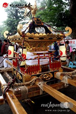 与野夏祭り:上町氷川神社境内〈上町・神輿〉@2014.07.19