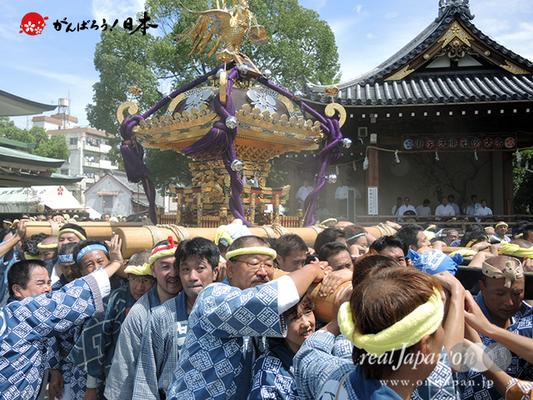 亀戸天神社例大祭:十三番〈緑一天神講〉2014.08.24  Ⓒreal Japan'on!:ktj14-025