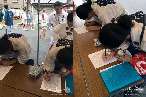 〈各地での署名活動〉牛嶋神社祭礼・亀沢四丁目町会 (2016年9月18日)