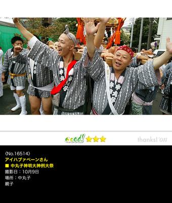 アイハブァペーンさん:中丸子神明大神例大祭, 2016年9月20日, 川崎市, 親子