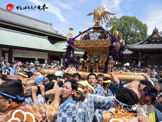 亀戸天神社例大祭:十三番〈緑一天神講〉2014.08.24  Ⓒreal Japan'on!:ktj14-026