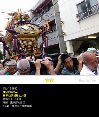 NaoIchiさん:駒込天祖神社大祭, 2016年9月11日, 4年に一度の本社神輿渡御