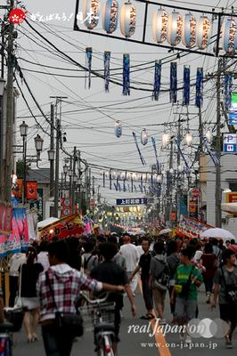 与野夏祭り:露店商が並ぶ 本町通り @2014.07.19