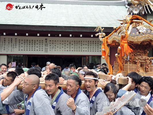 亀戸天神社例大祭:八番〈菊川一丁目〉2014.08.24  Ⓒreal Japan'on!:ktj14-017