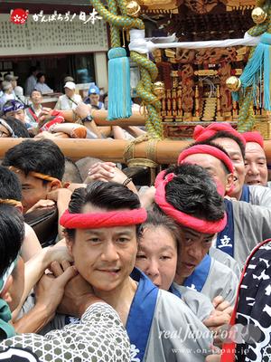 亀戸天神社例大祭:壱番〈立川一丁目〉2014.08.24  Ⓒreal Japan'on!:ktj14-004