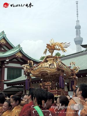 亀戸天神社例大祭:三番〈立川三丁目〉2014.08.24  Ⓒreal Japan'on!:ktj14-007