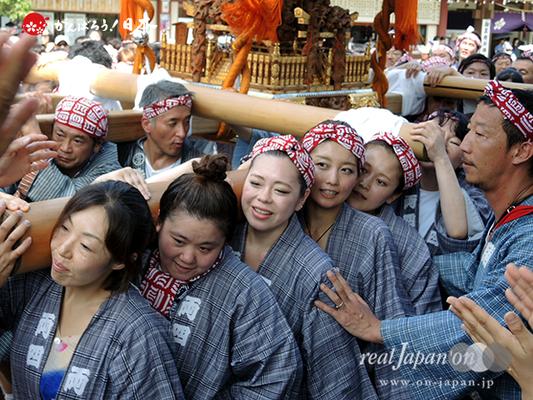 亀戸天神社例大祭:十七番〈両四天神講〉2014.08.24  Ⓒreal Japan'on!:ktj14-034
