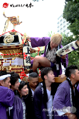 与野夏祭り:上町氷川神社境内渡御〈上峰〉@2014.07.19