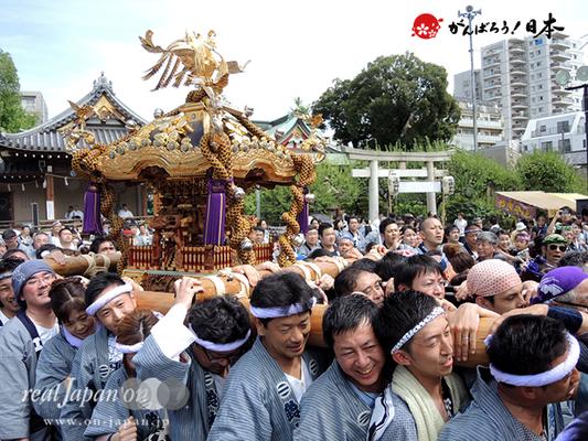 亀戸天神社例大祭:二十三番〈江東橋二丁目〉2014.08.24  Ⓒreal Japan'on!:ktj14-046