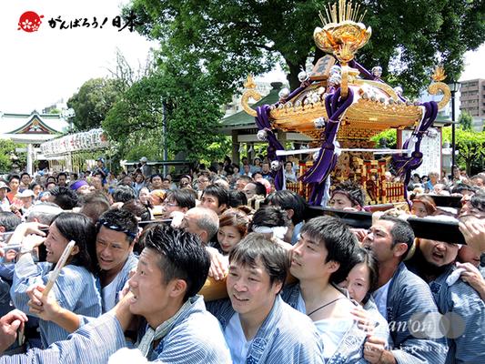 亀戸天神社例大祭:十一番〈緑三丁目〉2014.08.24  Ⓒreal Japan'on!:ktj14-022