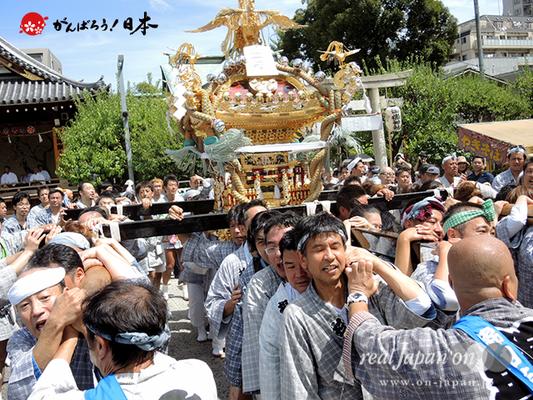 亀戸天神社例大祭:二十番〈錦四天神講〉2014.08.24  Ⓒreal Japan'on!:ktj14-039