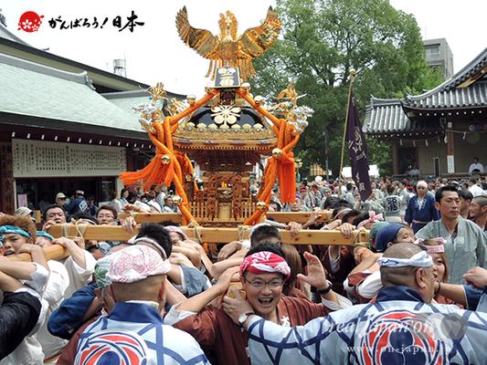 亀戸天神社例大祭:魁・番外二番〈太平会〉2014.08.24  Ⓒreal Japan'on!:ktj14-002