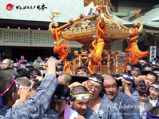 亀戸天神社例大祭:二十一番〈江東橋一丁目〉2014.08.24  Ⓒreal Japan'on!:ktj14-042