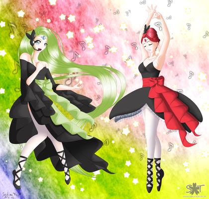Gijinka Meloetta dance and sind Version