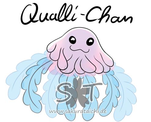 Das hier ist Qualli <3 Qualli entstand nebenher so gestern im Stream XD weil der Bommel von meiner Marill, bei mir und den Leuten den Sinn geweckt hat, das es aus schaut wie ne Qualle. Währe in toller Emoticon!