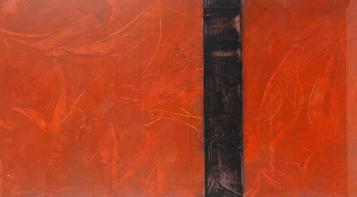 Substanz 09 · Acryl auf Papier · 50x70 cm
