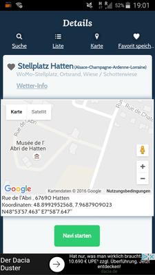 """Stellplatz in Hatten bei """"Womo Stellplatz.eu"""""""