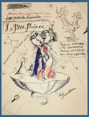 2015  pen + PC /drawing   大切なものは目に見えないんだよ