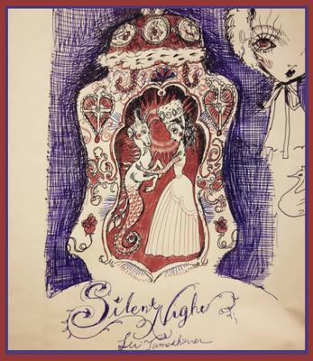 2015  drawing / ここではない何処かの御伽噺。 亡命する若い国の王女は 悲しい詩を千里離れた場所の国の王子へ届けるために 自分に忠実な馬を創り出しました。
