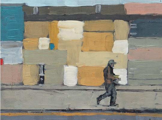 Chelsea Painting (Suite Lane), 2011, Öl auf Holz, 30cm X 40cm, Privatbesitz