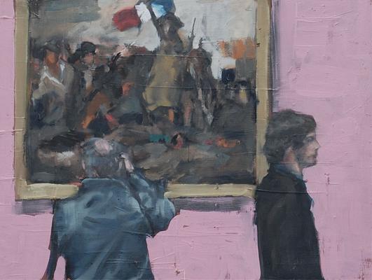 Delacroix, 2010, Öl auf Holz, 30cm X 40 cm, Privatbesitz