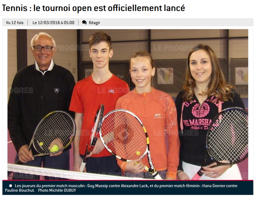 Tournoi open 2016