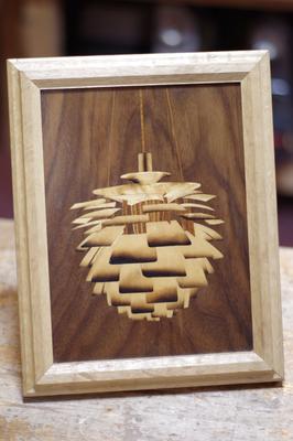 木象嵌(もくぞうがん)のアーティチョーク(照明)